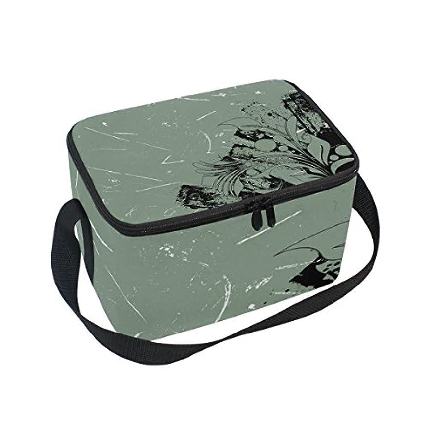 横規制目に見えるクーラーバッグ クーラーボックス ソフトクーラ 冷蔵ボックス キャンプ用品 抽象的 思い出 保冷保温 大容量 肩掛け お花見 アウトドア