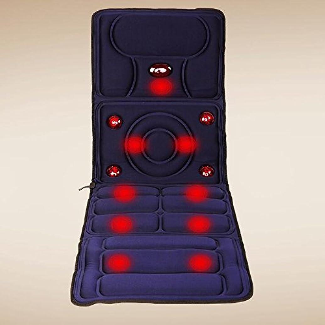 食品本黒HAIZHEN マッサージチェア ホーム多機能マットレスネックマッサージャー振動指圧ビートマッサージクッションネックウエストバックフルボディ