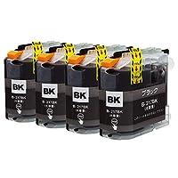 """LC217XL(BK/ブラック)-大容量 4本 ブラザー用 互換 インクカートリッジ 残量表示付き APEX製の最新ICチップを採用 【互印製】 ISO14001、ISO9001及び国際品質規格""""STMC""""認証工場製造品"""