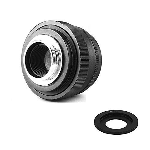 (バシュポ)Pixco Mini 35mm F1.6APS-Cレンズ/CCTVレンズはOlympus・Panasonic のMicro 4/3カメラに適用しています+16 mmC型マウントアダプターはNikon 1 J5 J4 S2 V3 AW1 J3 J2 J1 V2 S1 V1カメラに適用しています