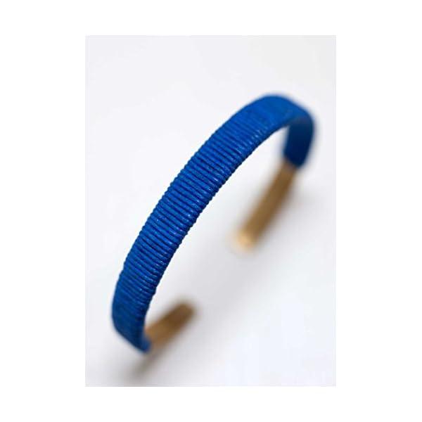 185038 コットン&メタルバングル ブルー...の紹介画像2