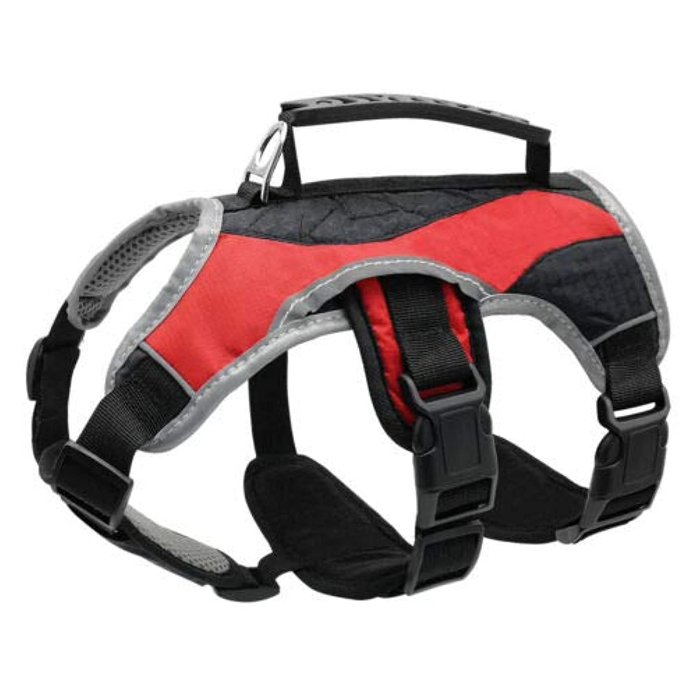 アーク不愉快手FidgetGear Web Master Large Dog Harness No Pull Medium Reflective Quick Fit Adjustable S-XL Red M