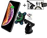 磁気ワイヤレスカーチャージャー 2BConnect プレミアム強力マウントQi高速充電カーキット CQ3.0アダプター付き 3Ampケーブル 10W高速ワイヤレス充電 iPhone Xs Max/XR/X/8/8+ Samsung S10/S9/S8/Note 8