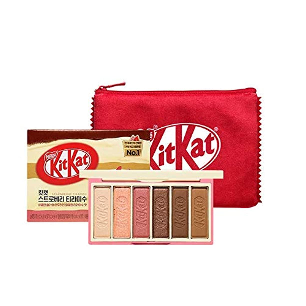禁止皮肉なウルルエチュードハウス キットカット プレイカラー アイズ ミニ キット 1*6g / ETUDE HOUSE KitKat Play Color Eyes Mini Kit #2 KitKat Strawberry Tiramisu...