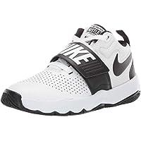 Nike Australia Team Hustle D 8 (PS) Boys Basketball Shoes, White/Black