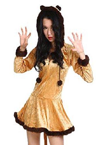 (FUPUONE) コスプレ衣装 ライオンコスチューム ライオン衣装 動物コスプレ ハロウィン仮装 パーティー衣装