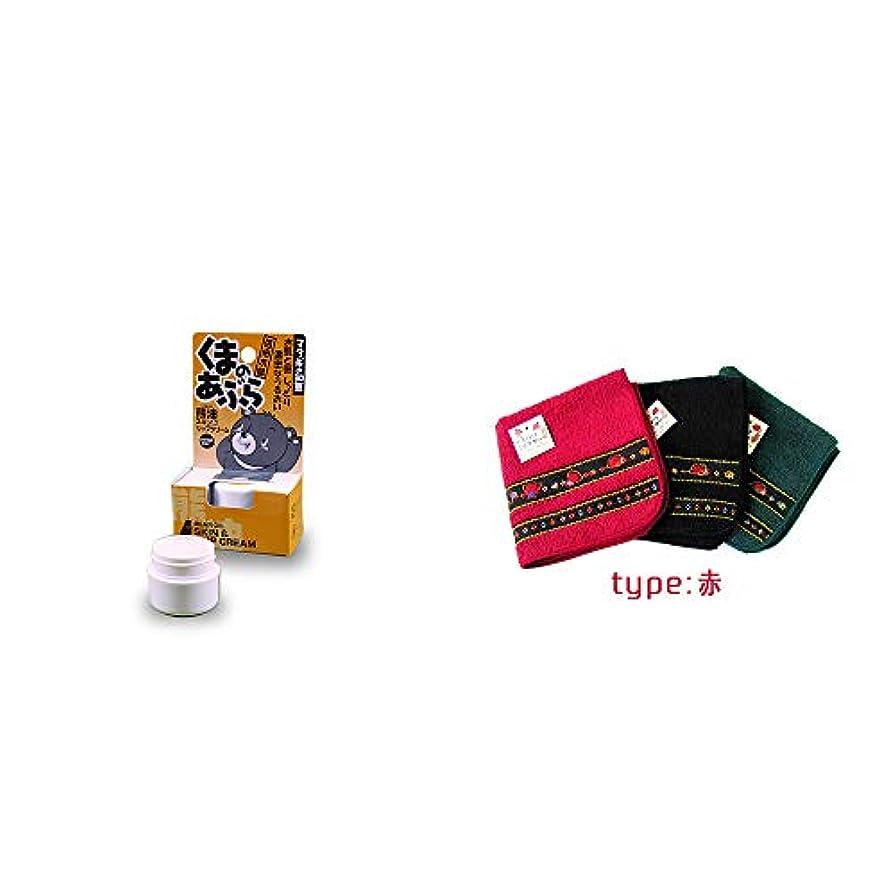 アセンブリカバレッジドラゴン[2点セット] 信州木曽 くまのあぶら 熊油スキン&リップクリーム(9g)?さるぼぼ 刺繍ミニタオル【赤】