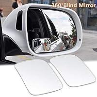 FidgetGear 2x車RVの死角ミラーユニバーサル外観リアサイドビュー実用ガラス