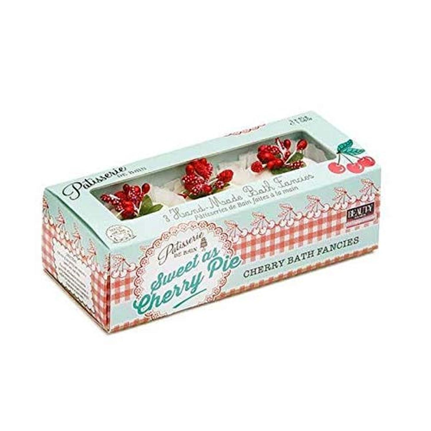 ワイプあえて色合い[Patisserie de Bain ] チェリーパイ風呂メルト45グラムのように甘いパティスリー?ド?ベイン - Patisserie de Bain Sweet as Cherry Pie Bath Melt 45g...