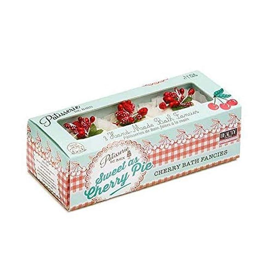 郵便兵士魔女[Patisserie de Bain ] チェリーパイ風呂メルト45グラムのように甘いパティスリー?ド?ベイン - Patisserie de Bain Sweet as Cherry Pie Bath Melt 45g...