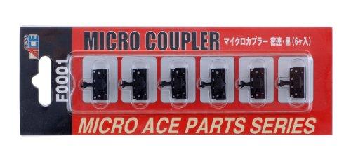 マイクロエース Nゲージ マイクロカプラー・密連・黒6個入 F0001 鉄道模型用品