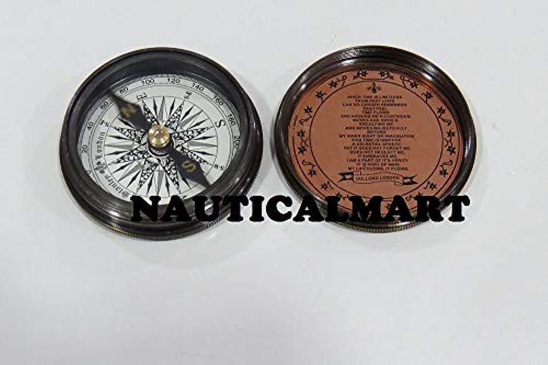 気分が良い発揮する寄託NauticalMart Brass Nautical Decor Christmas Gift Pocket Compass