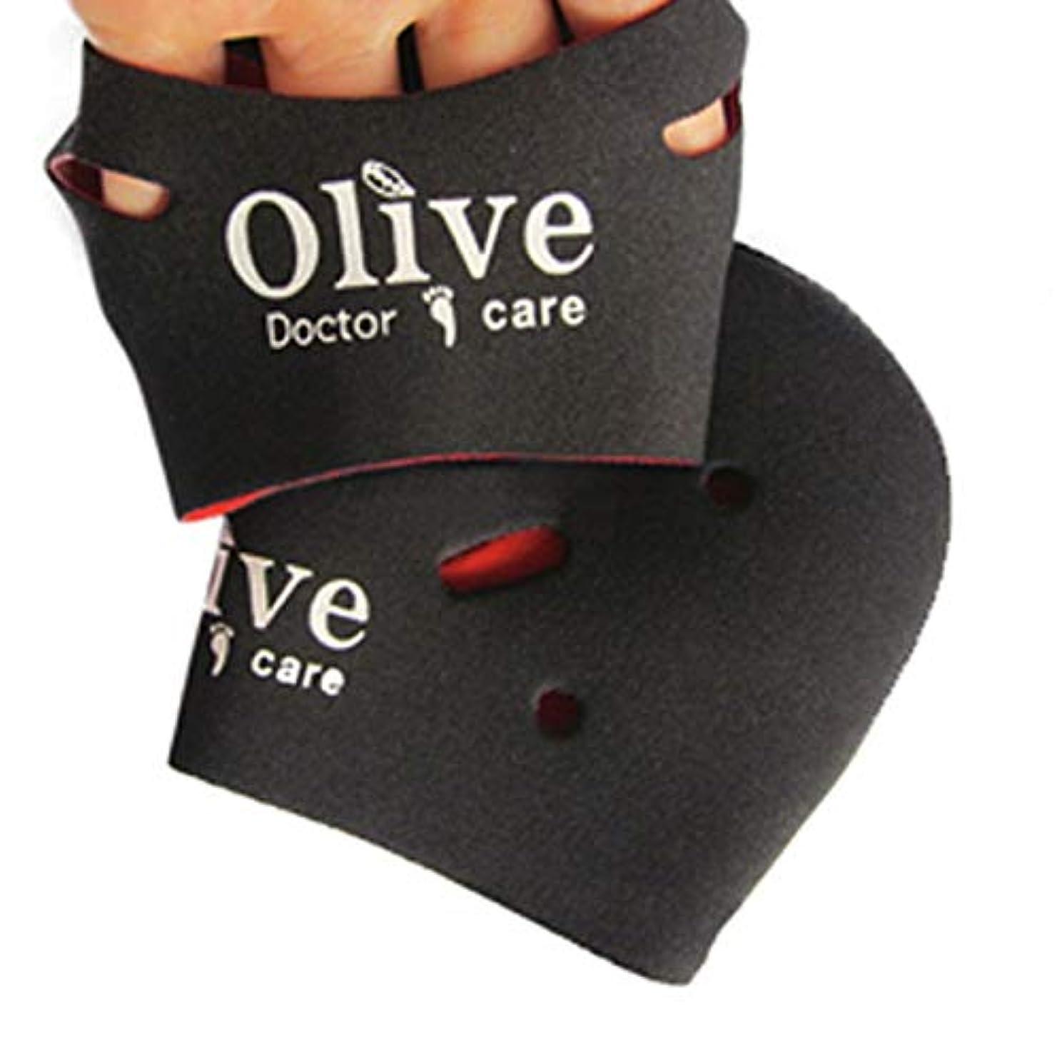 シングル犯人ハンバーガー[NICE-SHOP]かかとケア靴下 Olive Doctor Care