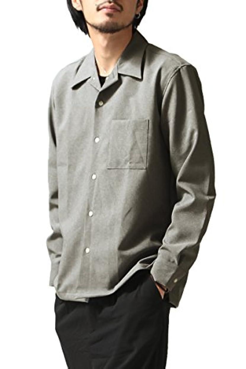硬さ警官最少[チャオ] ciao トロピカル2wayストレッチオープンカラーシャツ 日本製 メンズ 27-711