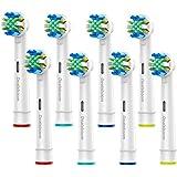 ブラウン オーラルB 电动歯ブラシ用 替えブラシ DEALSBOOM 8本入り 歯间ワイパー付ブラシ 通用 互换ブラシ EB25