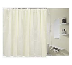 シャワーカーテン 防水防カビ加工 (オフホワイト(180×180cm))