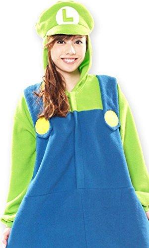 スーパーマリオブラザーズ ルイージ 着ぐるみ コスチューム 男女共用 165cm-175cm