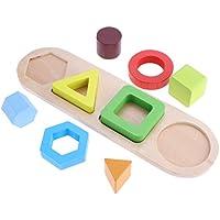 Baosity ビルディングブロック 木のおもちゃ 幾何認知 形合わせ 積み木 はめこみ パズル 幼児 子供 知育玩具