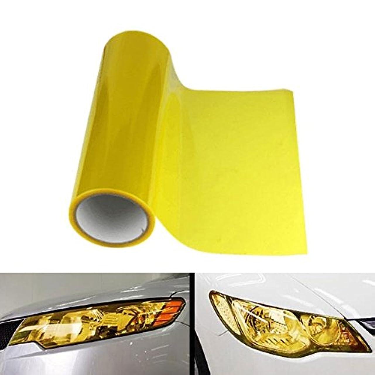 バリージョセフバンクス先行するJicorzo - Car Headlight Tailight Film Sheet Cover Sticker Yellow Vinyl Wrap Car styling Fit For Jeep Nissan Honda...