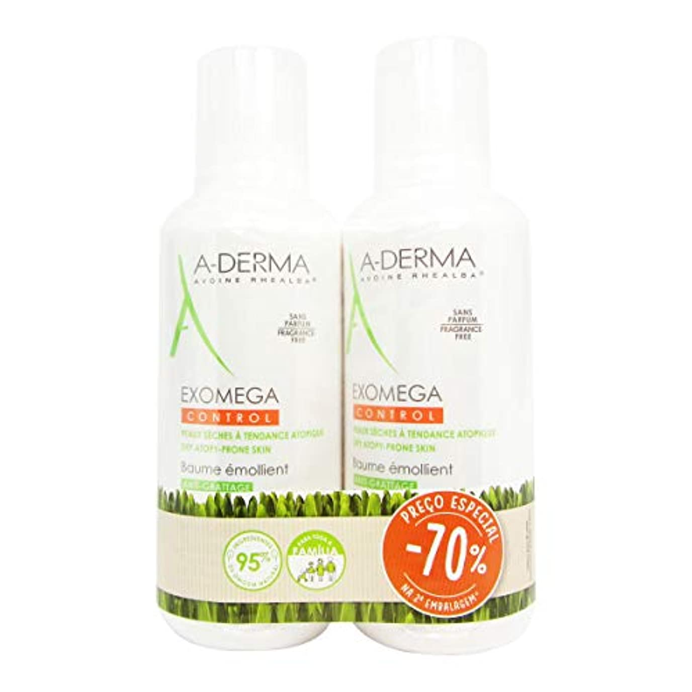 A-Derma Exomega Control Emollient Balm 400mlx2