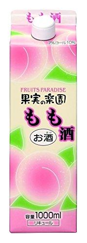 果実の楽園 もも酒 パック 1L