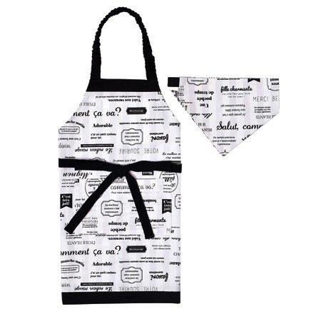エプロン100-120 三角巾付き マルシェドパリ N124...