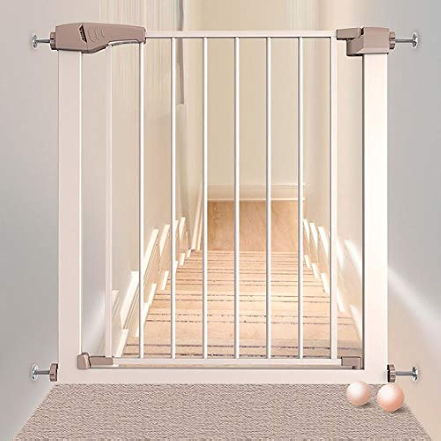 怖がらせるホール公使館ペットゲート 屋内赤ちゃんの安全ゲート用のドア拡張安全第一の圧力フィットリトラクタブルペットドア用階段 (Size : 96-103cm)