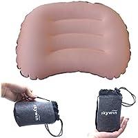 SKYWIN キャンプアウトドア用品 エアー枕 ポータブルピロー インフレータブル枕 快適な睡眠 超軽量コンパクト