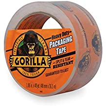 "Gorilla Heavy Duty Large Core Packing Tape for Moving, Shipping and Storage, 1.88"" x 40 yd, Clear (Renewed)"