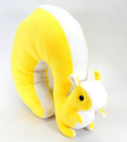 [해외]큰 꼬리가 귀여운 다람쥐 씨 형 훙 와리 목 베개/Little squirrel cute little squirrel type Funwari neck pillow