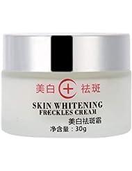 ホワイトニングクリーム、フェイシャルブライトニングそばかす除去剤血清肌のリラクゼーションメラスマダークスポットケアフェイス&ボディローション