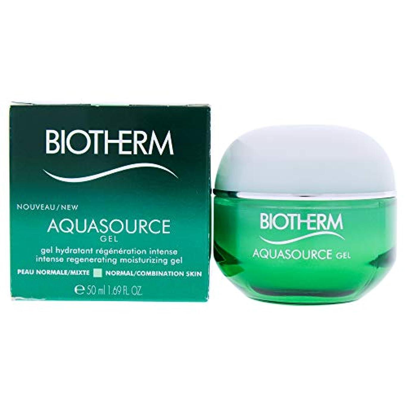 四面体等しい宿泊ビオテルム Aquasource Gel Intense Regenerating Moisturizing Gel - For Normal/Combination Skin 50ml/1.69oz並行輸入品