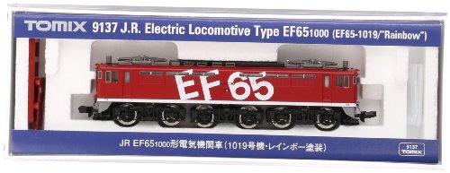 TOMIX Nゲージ 9137 EF65-1000 (1019号機・レインボー塗装)