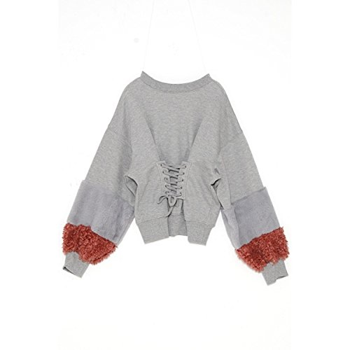 アズノゥアズピンキー(AS KNOW AS PINKY) ふわっファー袖編み上PO