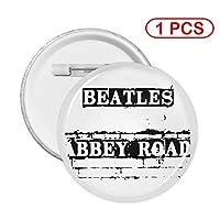 BEATLES ビートルズ - ABBEY ROAD SIGN 缶バッジ カンバッジ ブローチ ピン バッジ バッジ レディース メンズ 子供用 かわいい ピン ネクタイピン デコレーション 人気 お返し ギフト ホワイトデー 男女兼用