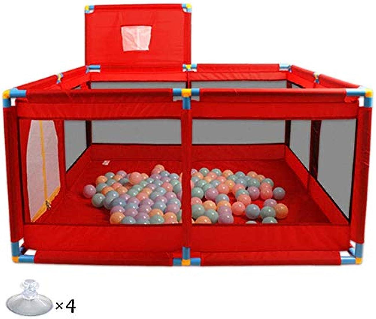 キリスト司令官連鎖Playpensポータブルベビー8パネル(バスケットボールフープ付き)、屋内子供用キッズプレイヤードアクティビティセンター、折りたたみ式屋外子供用セキュリティフェンス