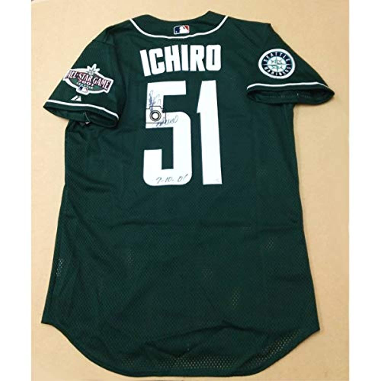 ICHIRO 2001 All-Star Game Jersey(Green)限定15着(4 of 15) W直筆サイン入り 検索:イチロー ジャージ