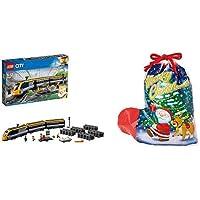 ラッピングセット レゴ(LEGO)シティ ハイスピード・トレイン 60197 おもちゃ 電車 (サンタソックス 3L)