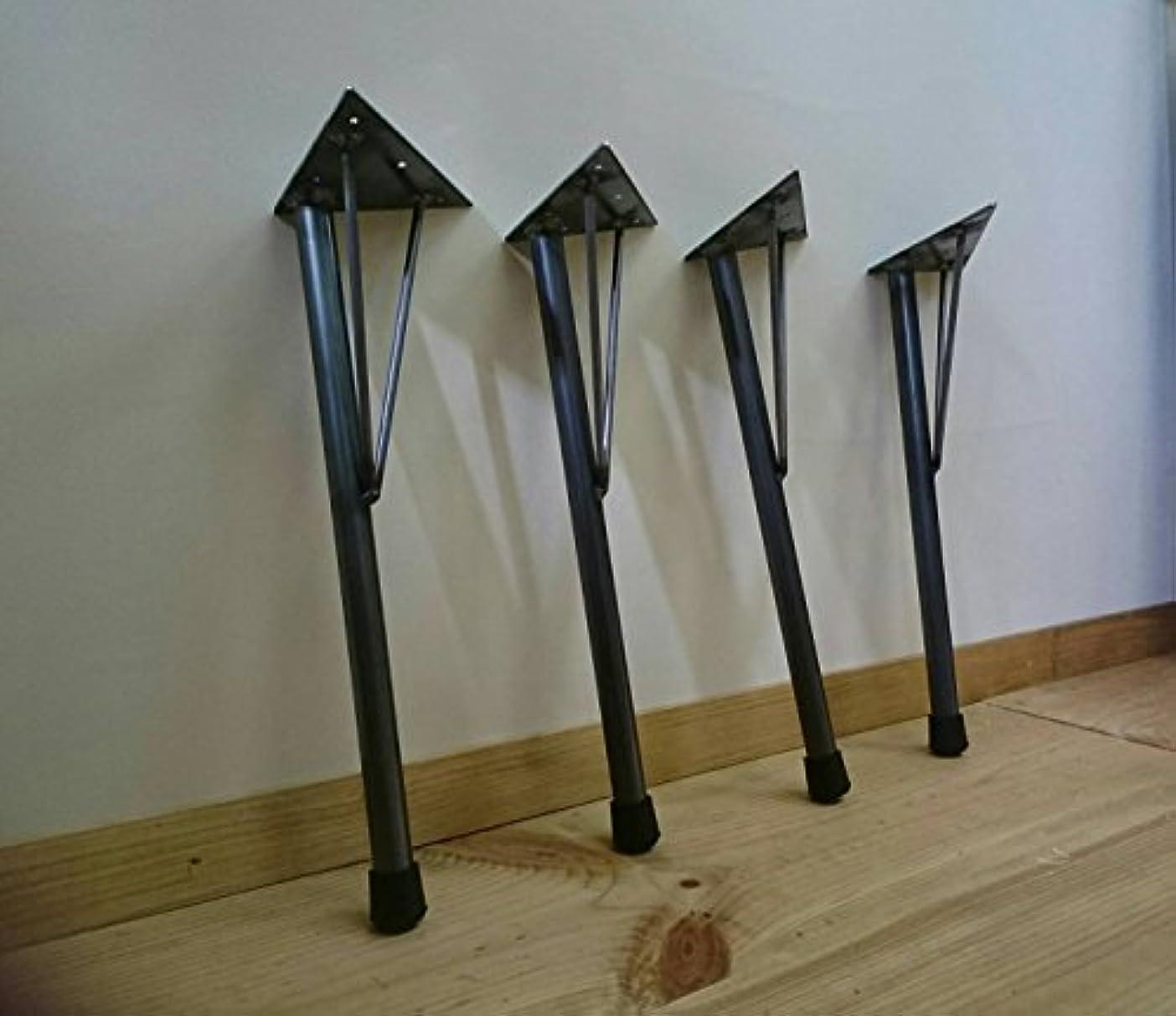 ネブレンドレンチアイアンレッグ DIY素材テーブル脚 4本セット鉄足 (S)