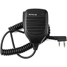Retevis 2 Pin Handheld Remote Radio Speaker Mic for Baofeng Retevis H777/RT7/RT21/RT 5R KENWOOD/TYT/HYT Walkie Talkie 2 Way Radio (1 Pack)