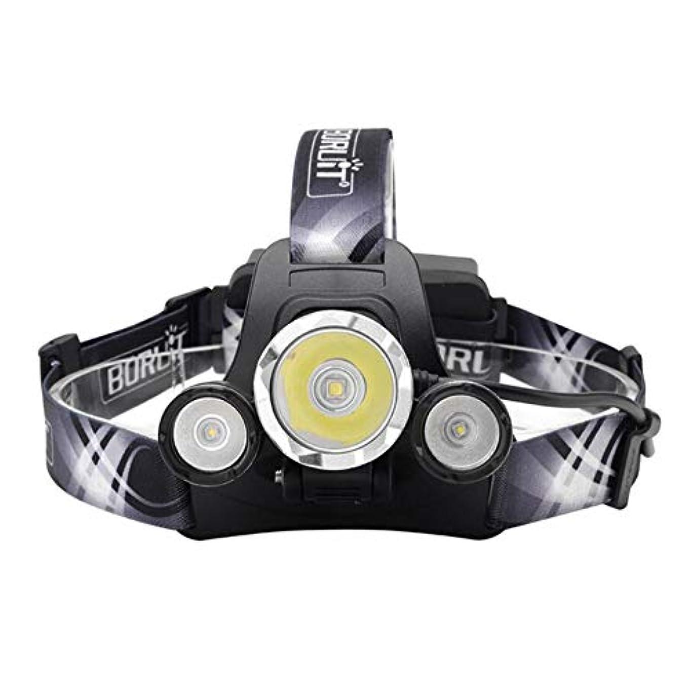 明確な飲料キャンセル3LEDヘッドランプハイパワースーパーブライトヘッドライト充電式バッテリーキャンプハイキング釣りランニングサイクリング読書、USBヘッドランプヘッドライト5000ルーメン