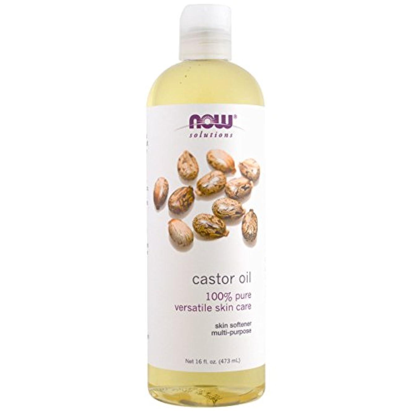 航海保存しないNow Foods CASTOR OIL, 16 OZ