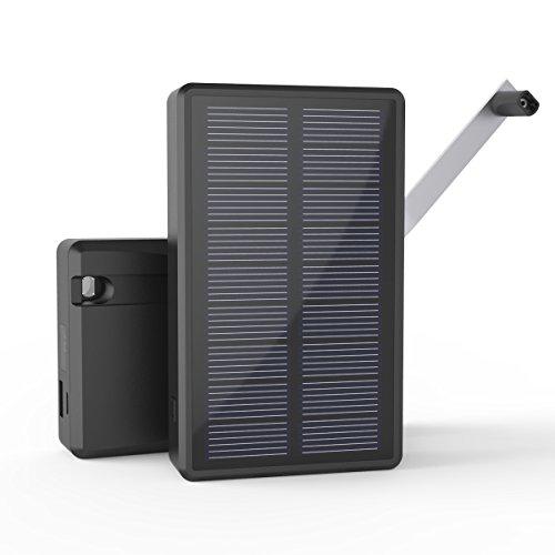 手回し充電対応 防災用品 MAXOAK モバイルバッテリー ソーラー 急速充電 iPhone/Android/空調服/カメラ/タブレットに充電対応可 日常使用/災害時/停電/地震/夜間/旅行/アウトドアに大活躍