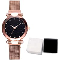 007XIXI Ladies Watches hot Sale Fashion Starry Sky Dial Quartz Mesh Belt Magnetic Buckle Ladies Watch with Box