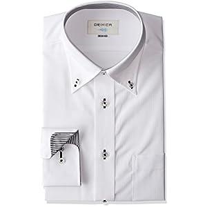 (オリヒカ)ORIHICA 白ボタンダウン織柄切替黒ストシャツ STLB2815 白 L