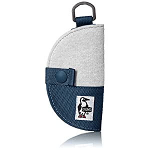 [チャムス]キーケース Half-moon Key Case Sweat Nylon H-Gray/Basic Navy