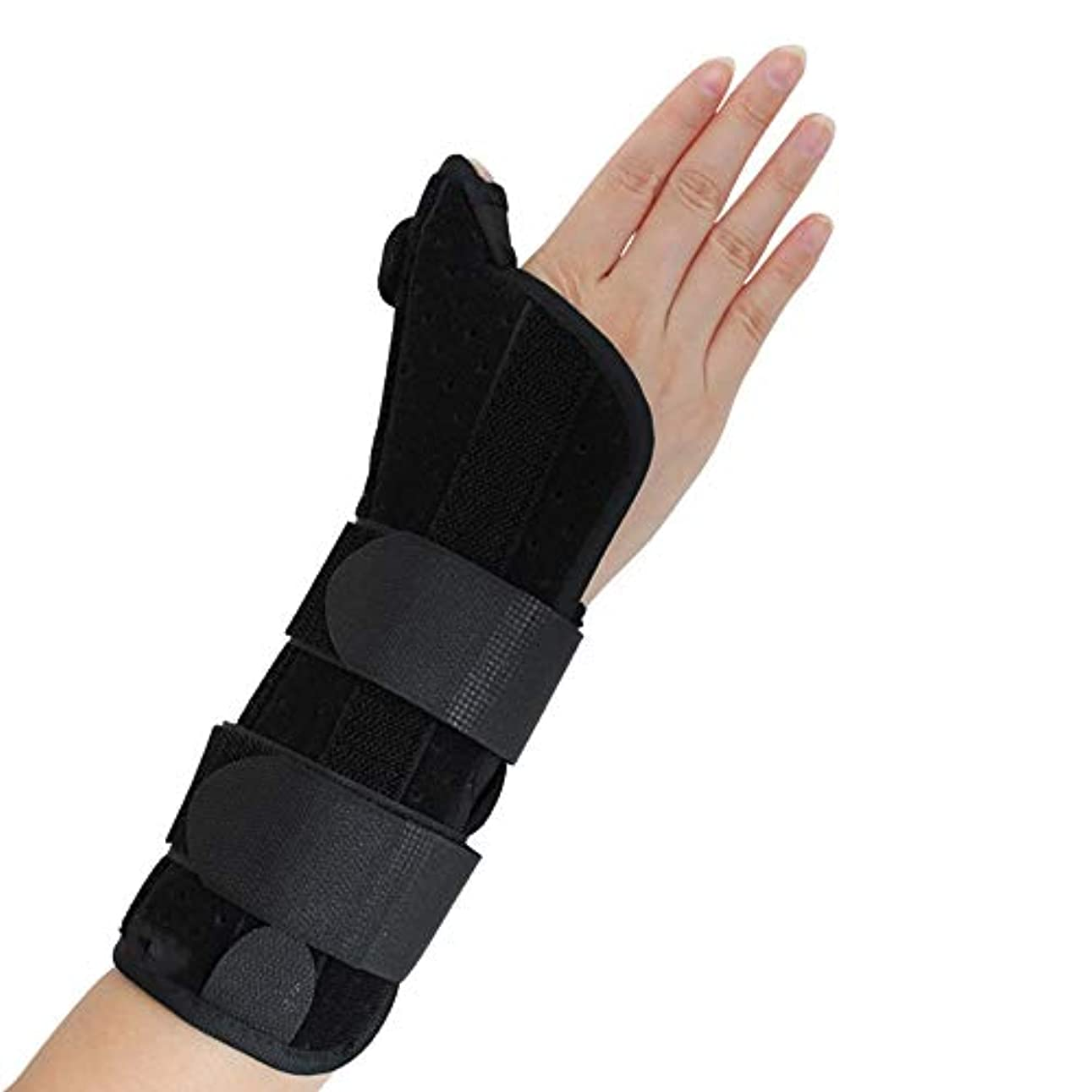 予防接種一生十一腱鞘炎、手根管痛、腱炎、関節炎、捻rain、骨折前腕サポートキャスト用の親指スピカスプリント付き手首装具,M