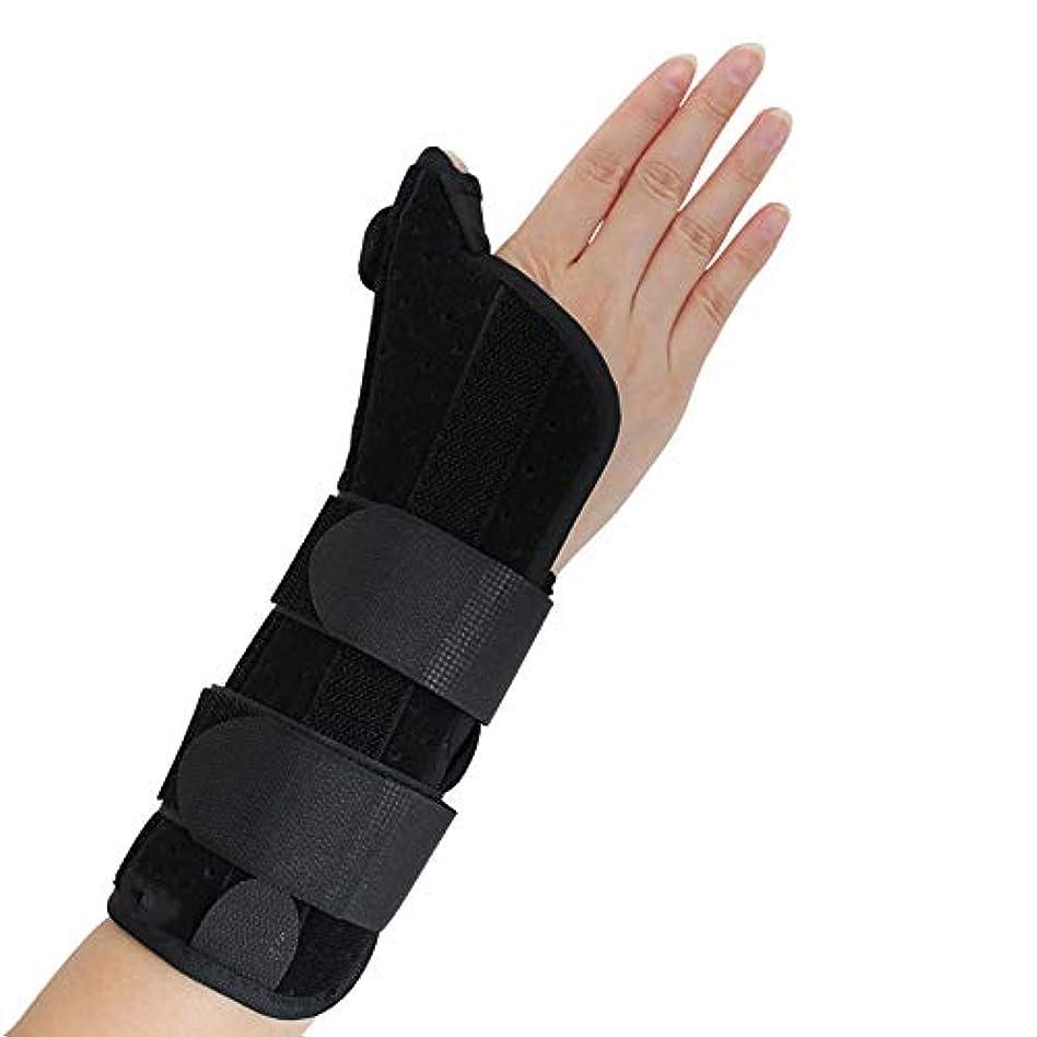 頭気楽なトーク腱鞘炎、手根管痛、腱炎、関節炎、捻rain、骨折前腕サポートキャスト用の親指スピカスプリント付き手首装具,M