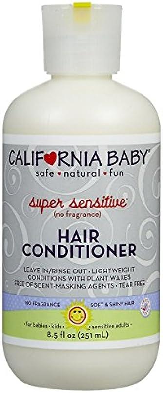 維持する毛皮排除するCalifornia Baby hair Conditioner - Super Sensitive, 8.5 Ounce by California Baby