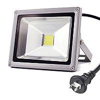 Succul(R) LED投光器 昼光色 ポータブル投光器 白色/広角ライト ACコード付 IP65屋外 軽量 防水加工 持ち運び [LED作業灯 作業灯 看板灯 駐車場灯 懐中電灯 防災用品 屋外 照明 人気] (50W)